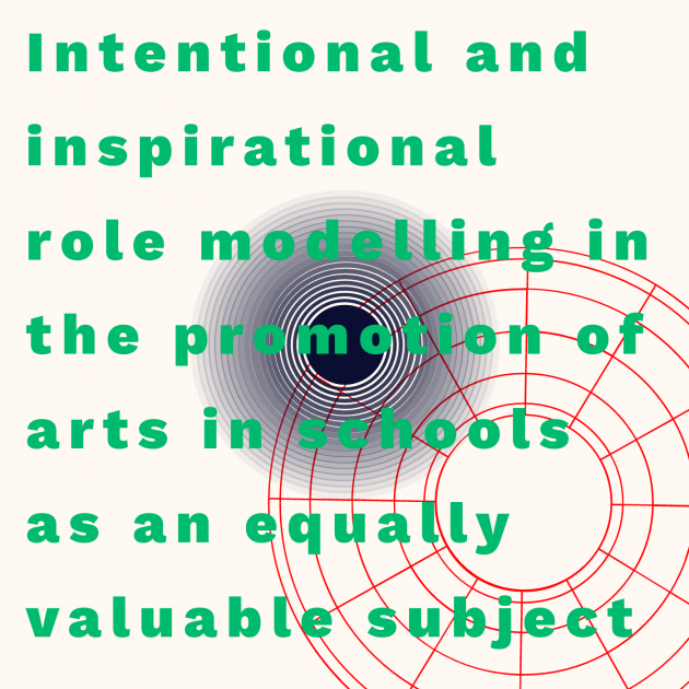 Intentional and inspirational role modelling in the promotion of arts in schools as an equally valuable subject