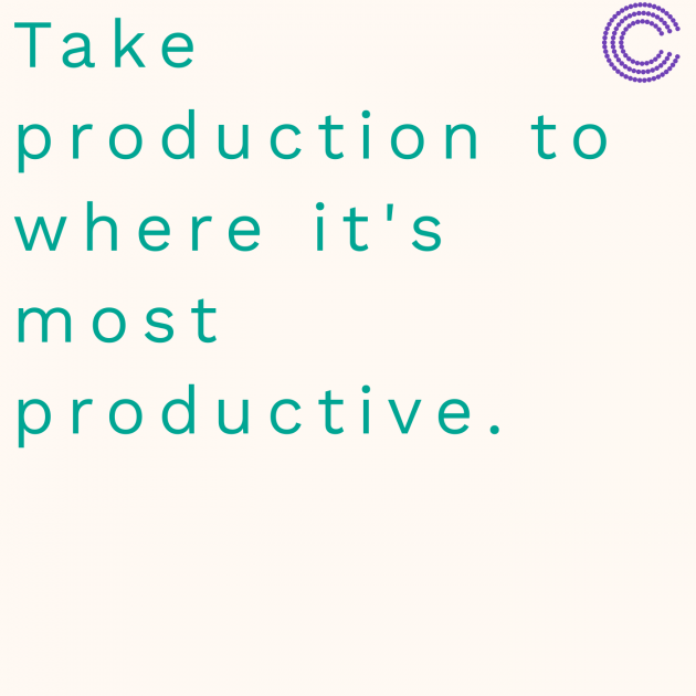 Take production to where it's most productive.